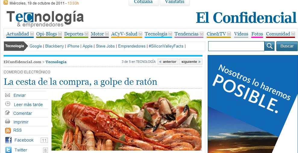 MariscoVip.com y su marisco gallego a domicilio en El Confidencial
